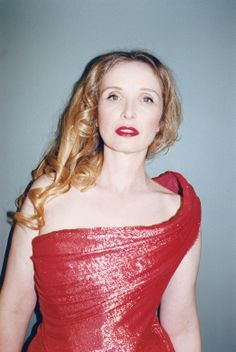 """Best Performances - Julie Delpy in Before Midnight """"In Before Midnight, I show my breasts. I decided, Okay, it has to be like I'm alone in the room with my boyfriend. I blocked out the fact that I was topless, and I worked all day on the set with my breasts showing. I never put on a robe, even between takes."""" Vivienne Westwood Gold Label dress."""