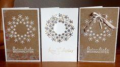 """Die schlichte Karte: Schneeflockenkranz Weihnachtskarte, Stanze """"Snowflake Burst"""" von Memory Box"""