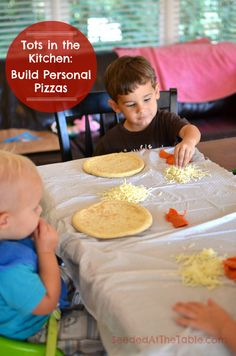 Tots in the Kitchen: Build Personal Pizzas