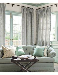 color ideas for living room (pale aqua and grey)