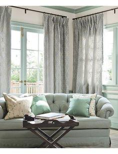 color ideas for living room (pale aqua and grey)