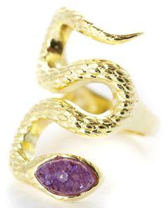 Marcia Moran snake druzy ring