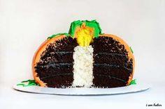 Pumpkin Cake with a Surprise Inside — I Am Baker