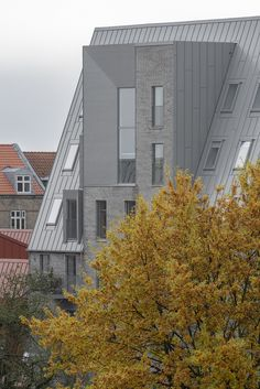 Aarhus, Architectural Features, Architectural Elements, Dormer Windows, Brick Building, Outdoor Areas, Large Windows, Residential Architecture, Facade