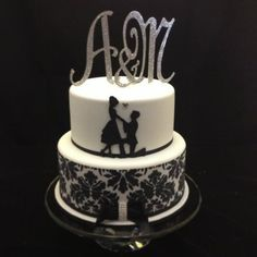 Proposal Silhuette Engagement Cake Cake by cjsweettreats