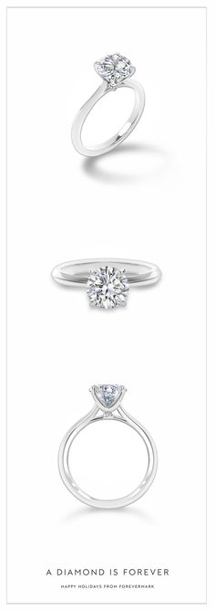 The present for the future. A round solitaire diamond engagement ring is timeless. Happy Holidays from Forevermark 1 Karat, Do It Yourself Jewelry, Wedding Rings Simple, Trendy Wedding, Gold Wedding, Dream Wedding, Diamond Rings, Solitaire Diamond, Simple Diamond Ring