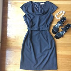 """Calvin Klein Dress. Chic. Calvin Klein Dress. Chic. 18"""" between under arms. 32"""" waist. 40"""" hips. 39"""" shoulder to hem. Cap sleeve. 4th picture shows color of dress best. Very good condition. Timeless elegance. Calvin Klein Dresses Midi"""