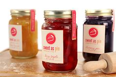 16 Oz glass mason jars could serve as the perfect jar for packaging for your line of homemade pie fillings or jams. These jars come with a tamper evident cap which features a button that pops up after the vacuum seal has been broken