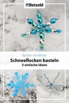 Dekoriert eure Räume mit glitzernden Schneeflocken aus Perlen, Salz oder Holzstäbchen. Zur Anleitung klicken.   Basteln mit Kindern im Winter Jewelry, Smoking Pipes, Salt, Creative Ideas, Kunst, Jewlery, Jewerly, Schmuck, Jewels