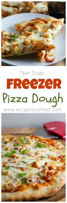 Make Friday night pizza night so much easier with this freezer pizza dough. Make it ahead, then pull it out the day you want it. Soooo good. The post includes secrets for getting perfect dough every time! - Eazy Peazy Mealz