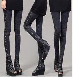 M-XXXXL Large Size 3D Pattern Elastic Waist Snowflake Denim Leggings Small Feet leggins Jeans Nouveaute Vetement Femme BG460