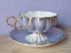 Vintage Lustreware Tea cup and Saucer Royal Sealy by ShoponSherman