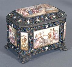 Viennese Enameled Dresser Box Sold! $6,900 at Fairfield Auction www.fairfieldauction.com