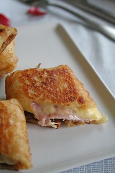 prairies on petals - food and photography: Stuffed crepes with ham and cheese