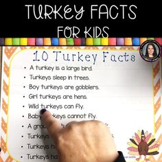 10 Turkey Facts for Kids | A Thanksgiving Writing Center (VIDEO)