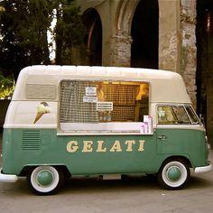 A sweet gelati Kombi van. From Roma Italy.