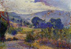 Paysage de Cabasson (étude) de Henri Edmond Cross (1856-1910, France)