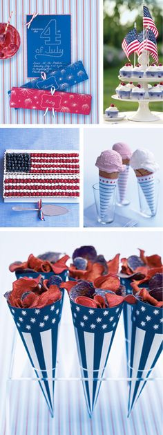 of July Party Ideas - celebrate - Little Miss Momma Fourth Of July Food, 4th Of July Celebration, 4th Of July Party, July 4th, Patriotic Party, Patriotic Decorations, Holiday Parties, Holiday Fun, Little Miss Momma