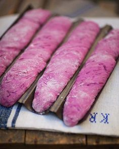 beet baguettes by Leila Lindholm Bread Recipes, Snack Recipes, Good Morning Breakfast, Breakfast Club, Our Daily Bread, Bread And Pastries, Vegetable Dishes, Bread Baking, Food For Thought
