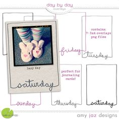 Day By Day Overlays- 3x4