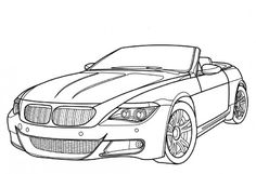 Jaguar Old Racing Car Coloring Page | Free Online Cars Coloring Pages For Kids