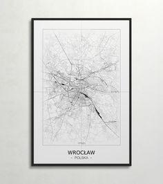 Plakat - mapa - Wrocław  Gdzie kupić? www.eplakaty.pl