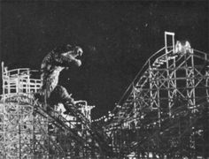 Top 10 Movie Monsters Designed By Ray Harryhausen - The Beast (The Beast from 20,000 Fathoms)  beast-on-coney-island  Most of the early films Ray worked on were low-budget monster movies, that were made quickly and as cheaply as possible. The Beast from 20,000 Fathoms is no exception.  Read more: http://www.toptenz.net/top-10-movie-monsters-designed-by-ray-harryhausen.php#ixzz2TwZVIwPe