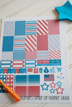 FREE Patriotic Planner Stickers for Regular & Large Happy Planner - Planner Squad