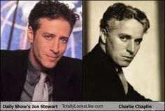 Stewart & Chaplin- two of my favorite funny men who look so similar in this pic.