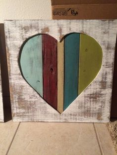 Reclaimed pallet wood heart wall art & Heart. Reclaimed pallet wood wall art | Josina Designs | Pinterest ...