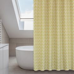 Shop for Metro Buttercup/ Mustard Yellow Shower Curtain Set. Get free delivery On EVERYTHING* Overstock - Your Online Shower Curtains & Accessories Store! Yellow And Grey Curtains, Yellow Shower Curtains, Long Shower Curtains, Extra Long Shower Curtain, Shower Curtain Rings, Bathroom Kids, Small Bathroom, Bathrooms, Curtain Store