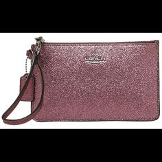 """1 HR SALE!! NWT Coach cherry metallic wristlet 1 HOUR SALE!!! NWT Coach cherry metallic wristlet- so cute!!!  Measures 7"""" in length & 4 1/2"""" in height Coach Bags"""