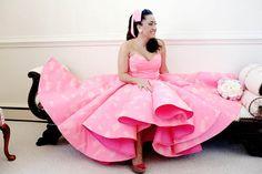 Wedding Dress Designers & Inspiration : Pretty In: 17 of the Very Best Pink Wedding Dresses Non White Wedding Dresses, Colored Wedding Dress, Wedding Dress Trends, Designer Wedding Dresses, Dress Wedding, Wedding Ideas, Boho Gown, Bridal Jumpsuit, Alternative Bride