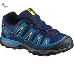 Salomon X Ultra GTX Trail Chaussures de Course pour enfants, Blanc/jaune, 2.5 UK - 35 EU - Chaussures salomon (*Partner-Link)