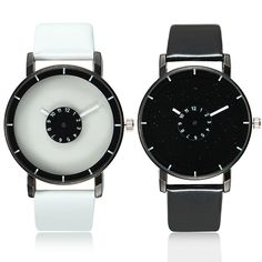 Sale 18% (4.29$) - Viser PU Leather Band Starry Fashion Casual Analog Quartz Unisex Watch