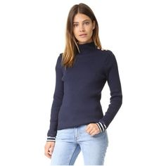 Petit Bateau Turtleneck Sweater ($130) ❤ liked on Polyvore featuring tops, sweaters, smoking, turtle neck sweater, long sleeve turtleneck top, slimming tops, wet look top and long sleeve tops