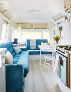 A vintage Airstream trailer gets a glam update {PHOTO: Donna Griffith}