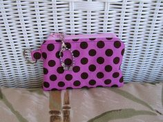 Change Purse Pink with Black Dots by KthysKreations on Etsy, $8.50