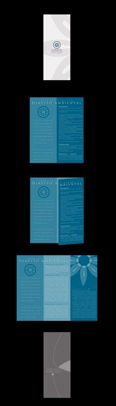 Segue o folheto do escritório de advocacia focado em direito ambiental. Já mostro os cartões!!