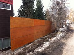 Cool fence idea I saw in Steamboat Springs, CO...