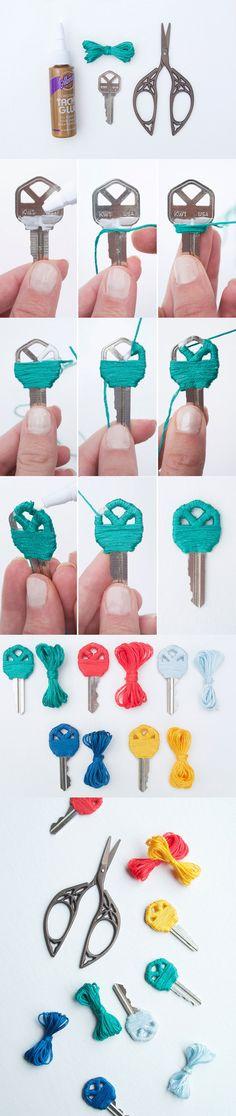 Originales llaves de colores / http://www.cremedelacraft.com/