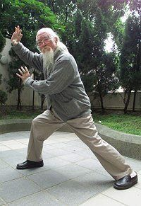 At 109-years-old, one of China's oldest men Lu Zijing from central China's Hubei Province demonstrates Tai-Chi in Hong Kong December 3, 2001 (Kin Cheung / Reuters) - (Lu lived to be 118.) - #TaiChi #Taijiquan