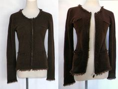ON HOLD til 1/28...Plush 100% Cashmere Gray Cardigan Sweater / L ...