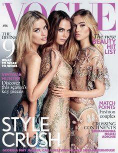 Vogue Uk, Vogue Paris, Vogue Russia, Georgia May Jagger, Mario Testino, Magazine Vogue, Fashion Magazine Cover, Hannah Ferguson, Anna Dello Russo
