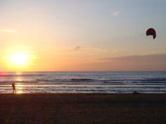 Genieten van de zonsondergang...
