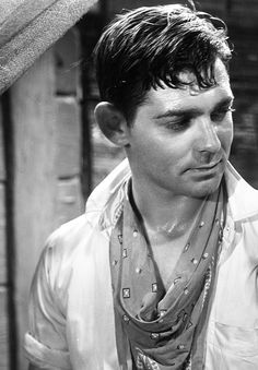 Clark Gable sans moustache... Well, he just looks good every which way, doesn't he?