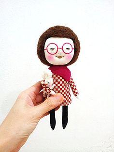 EEChing Handmade dolls – Etsy Toys – Handmade Art Dolls with Glasses | Small for Big