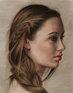 "Amazing job on the hair.  Saatchi Online Artist: Brian Scott; Colored Pencils, 2011, Drawing ""Classic"""