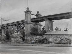 "Train Overpass  Watercolor 11""x15"""