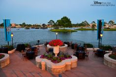 The Terrace des Fleurs at #Epcot is the perfect venue for an outdoor cocktail hour or dessert party #reception #wedding